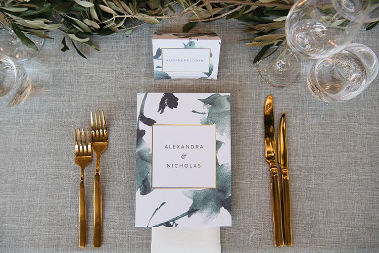 wedding paper goods - photo by Jerome Cole https://ruffledblog.com/fun-black-tie-warehouse-wedding-in-melbourne
