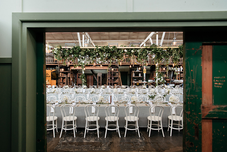 wedding receptions - photo by Jerome Cole http://ruffledblog.com/fun-black-tie-warehouse-wedding-in-melbourne
