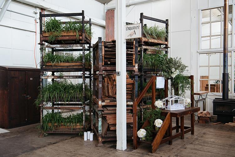 wedding day rentals - photo by Jerome Cole https://ruffledblog.com/fun-black-tie-warehouse-wedding-in-melbourne