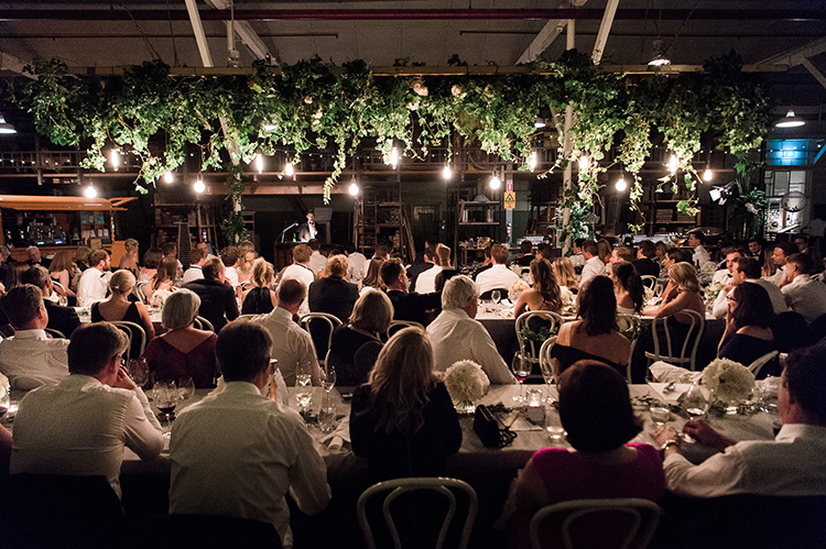 indoor weddings - photo by Jerome Cole https://ruffledblog.com/fun-black-tie-warehouse-wedding-in-melbourne