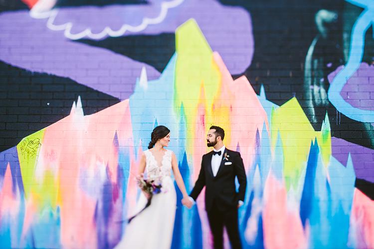 wedding portraits - photo by Redfield Photography https://ruffledblog.com/fun-wedding-celebration-at-brooklyn-winery