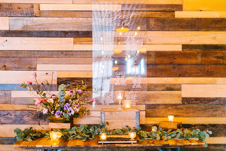 seating charts - photo by Redfield Photography http://ruffledblog.com/fun-wedding-celebration-at-brooklyn-winery