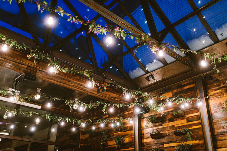 string lighting - photo by Redfield Photography https://ruffledblog.com/fun-wedding-celebration-at-brooklyn-winery