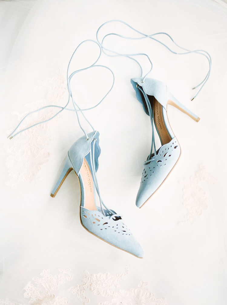 light blue wedding shoes - photo by Hillary Muelleck Photography http://ruffledblog.com/garden-estate-wedding-inspiration-with-delicate-poppies