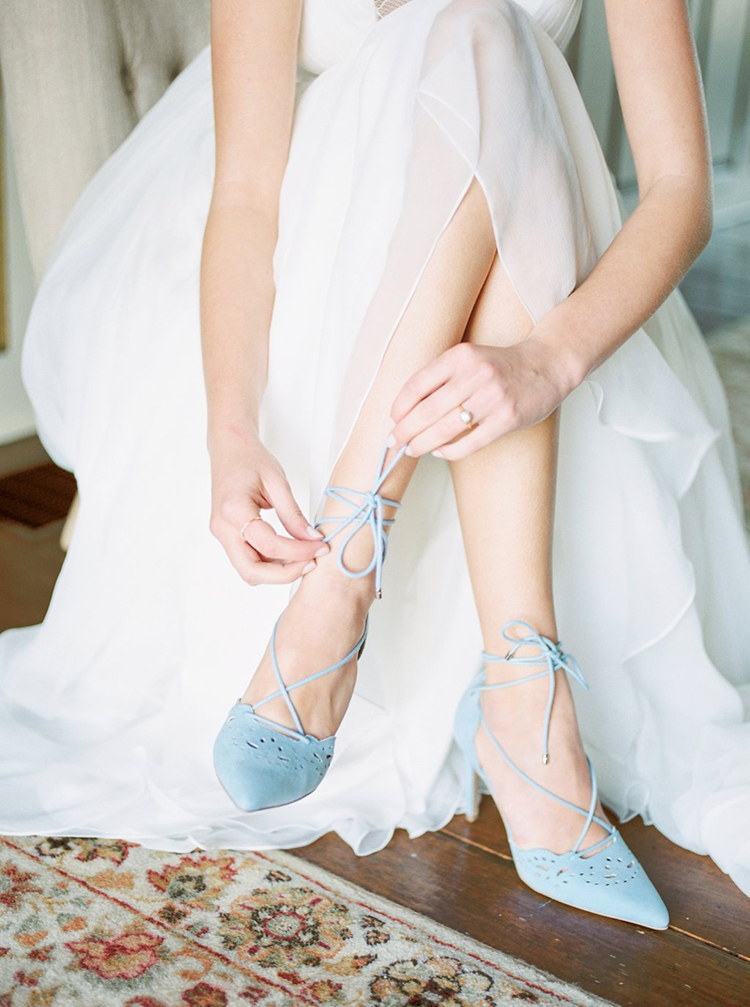 brides getting ready - photo by Hillary Muelleck Photography http://ruffledblog.com/garden-estate-wedding-inspiration-with-delicate-poppies