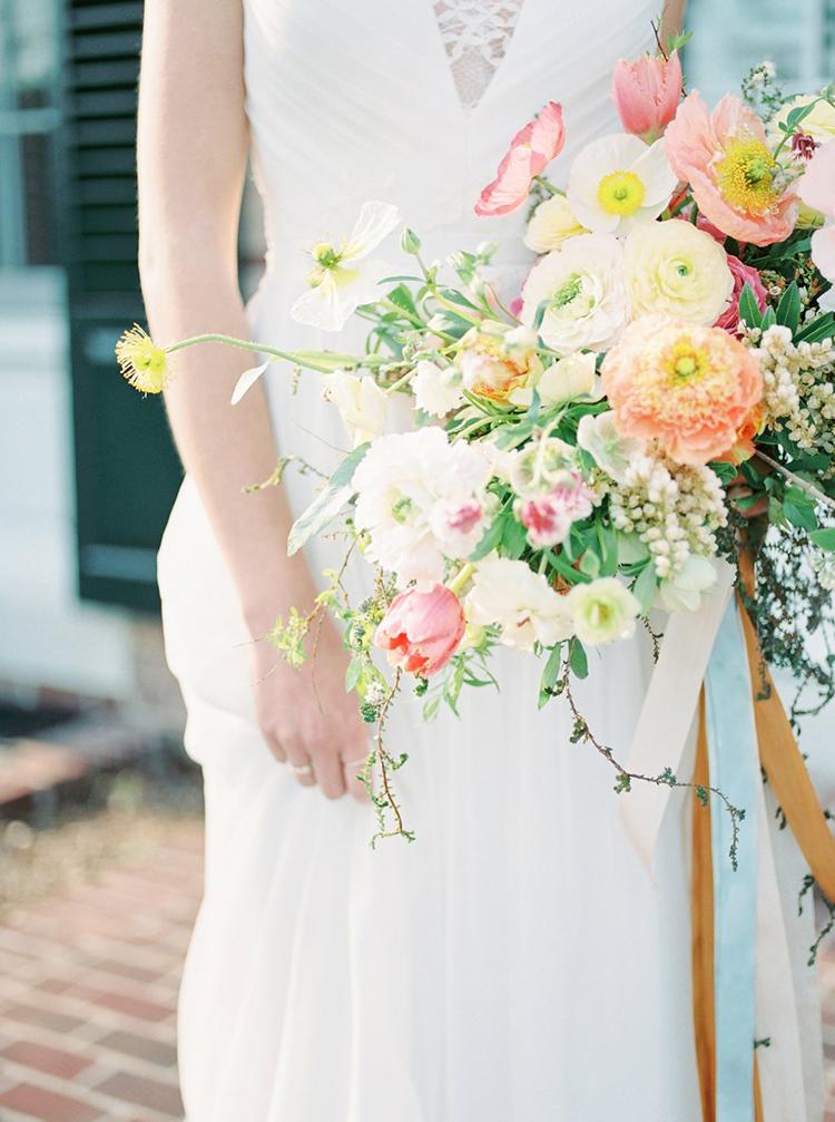 poppy wedding wedding bouquets - photo by Hillary Muelleck Photography http://ruffledblog.com/garden-estate-wedding-inspiration-with-delicate-poppies