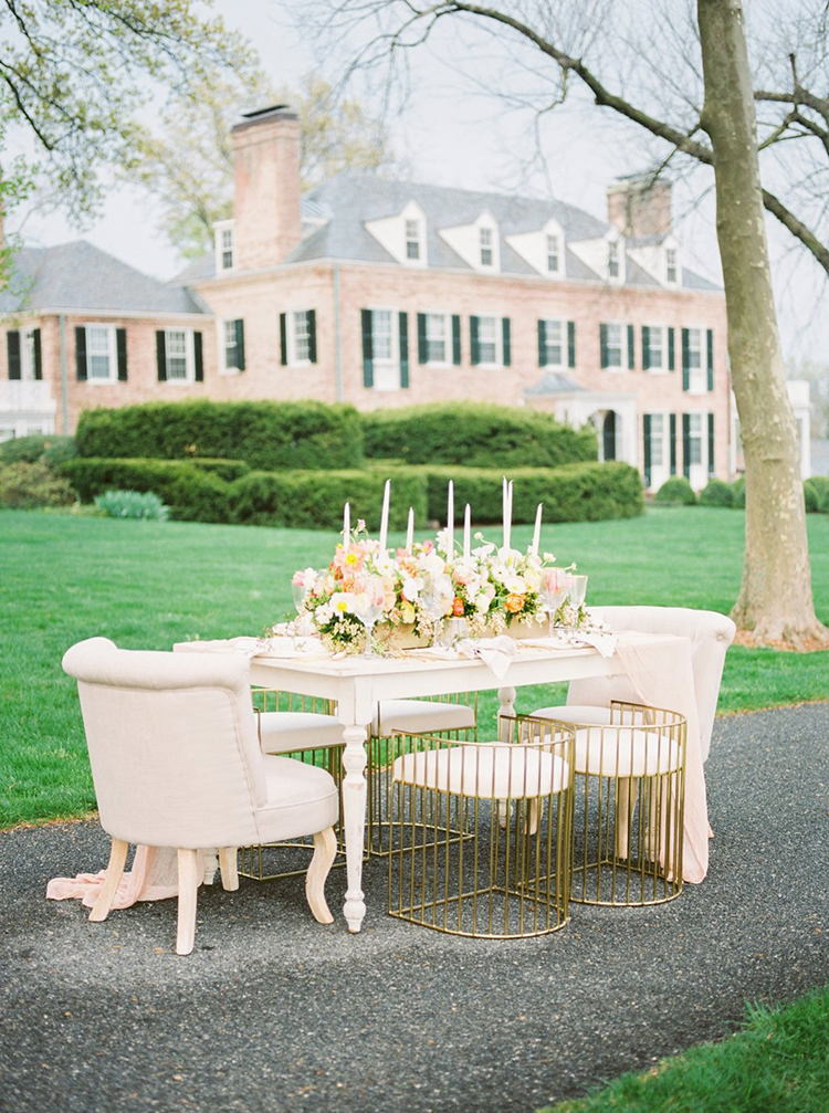 romantic estate wedding inspiration - photo by Hillary Muelleck Photography http://ruffledblog.com/garden-estate-wedding-inspiration-with-delicate-poppies