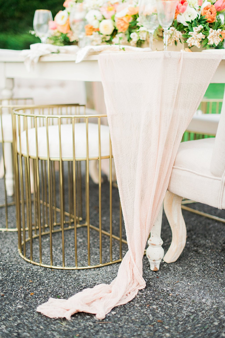pink wedding ideas - photo by Hillary Muelleck Photography http://ruffledblog.com/garden-estate-wedding-inspiration-with-delicate-poppies