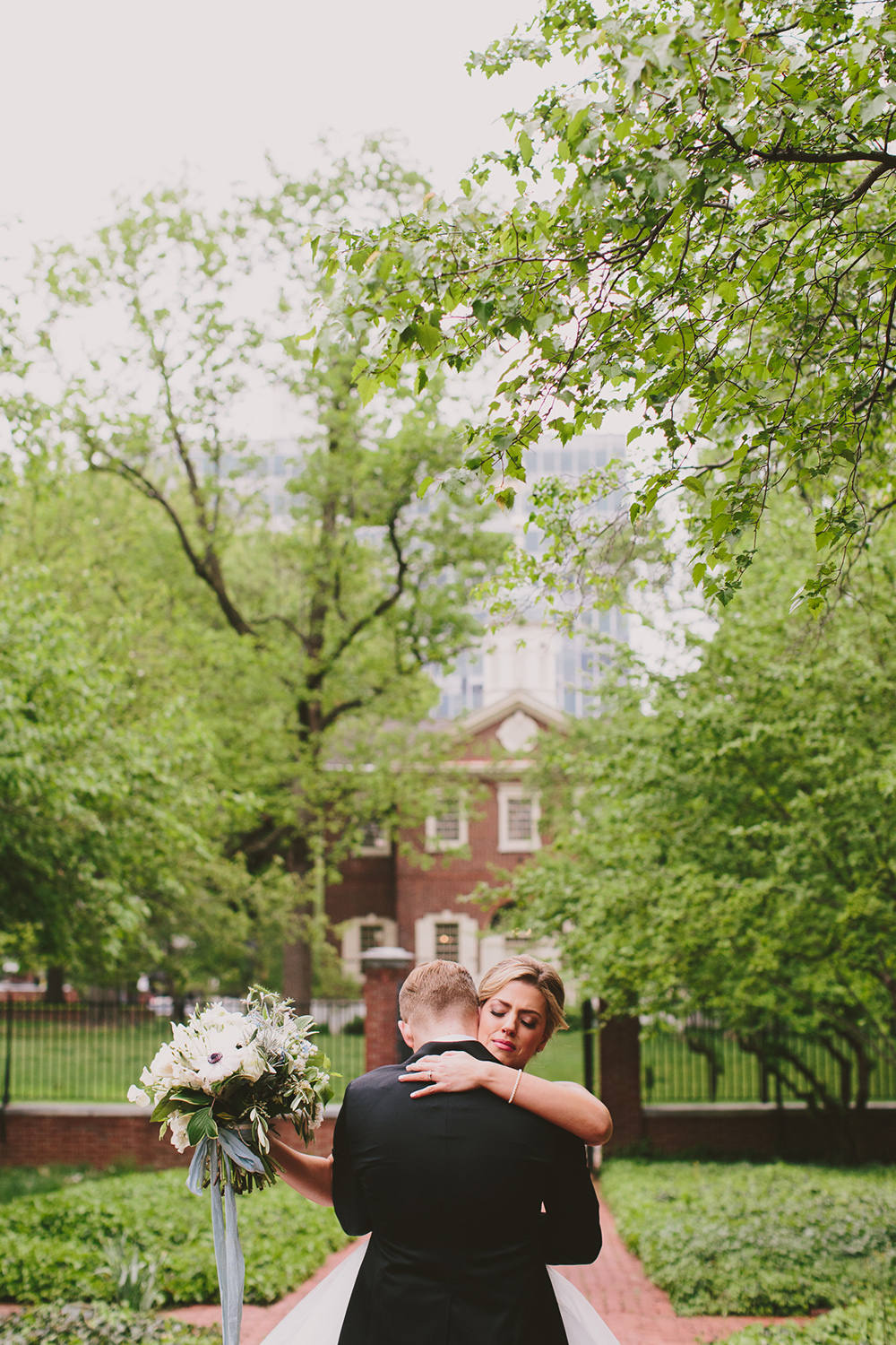 first looks - photo by Henry and Mac http://ruffledblog.com/glam-downtown-philadelphia-wedding
