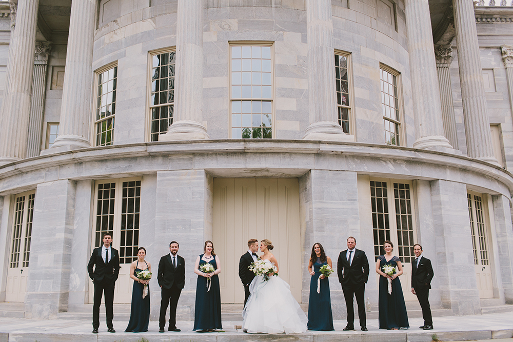 wedding parties - photo by Henry and Mac http://ruffledblog.com/glam-downtown-philadelphia-wedding