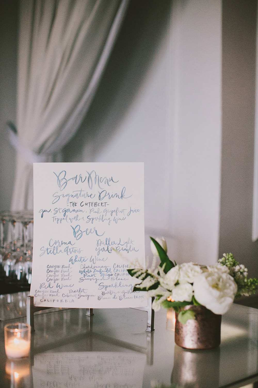 wedding paper goods - photo by Henry and Mac https://ruffledblog.com/glam-downtown-philadelphia-wedding