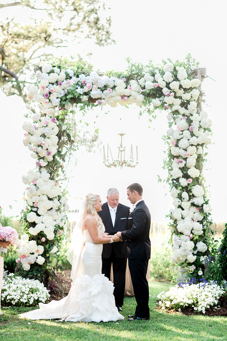 Glamorous Seaside Soirée Wedding with Glam Details - photo by A.J. Dunlap Photography http://ruffledblog.com/glamorous-seaside-soiree-wedding-with-glam-details