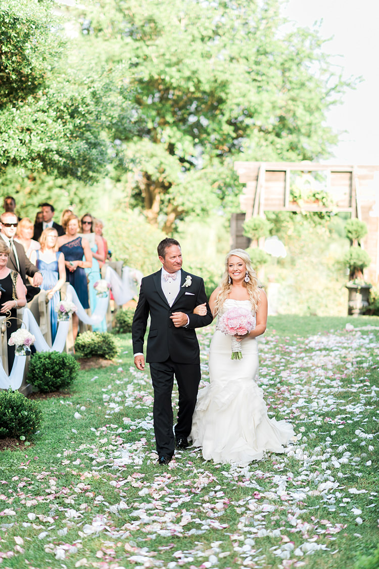 ceremony processionals - photo by A.J. Dunlap Photography https://ruffledblog.com/glamorous-seaside-soiree-wedding-with-glam-details