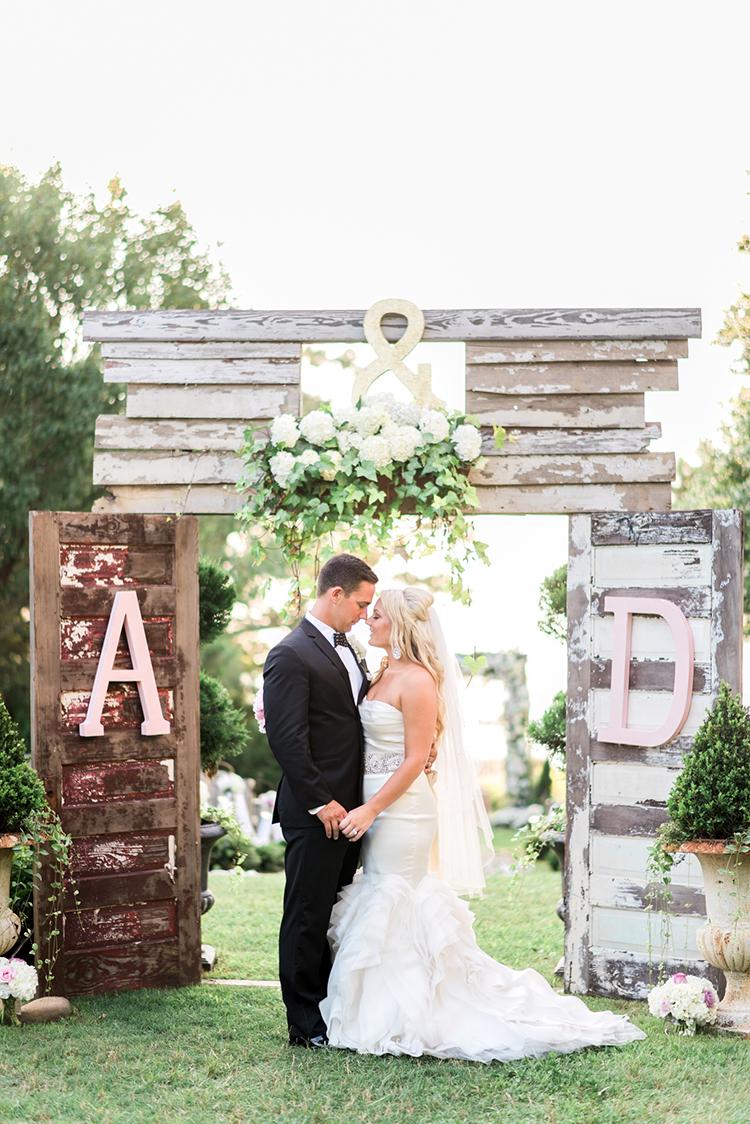 unique wedding DIY installations - photo by A.J. Dunlap Photography https://ruffledblog.com/glamorous-seaside-soiree-wedding-with-glam-details