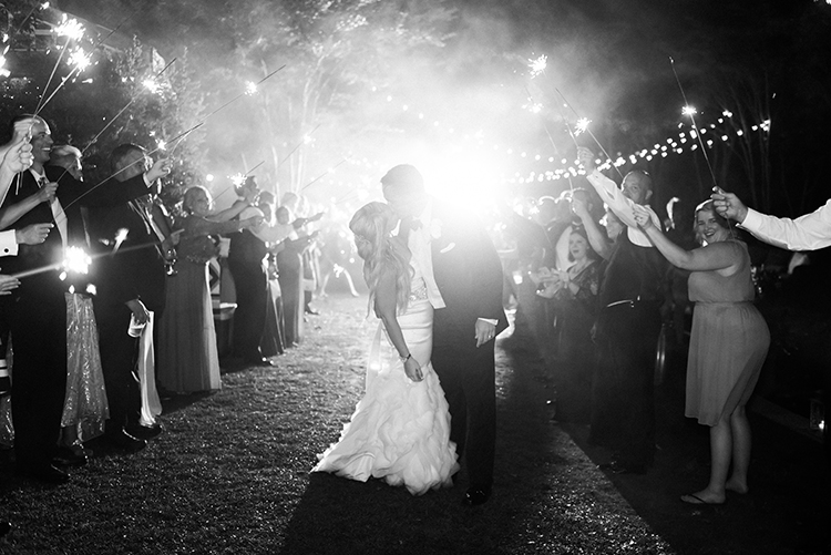 wedding getaways - photo by A.J. Dunlap Photography http://ruffledblog.com/glamorous-seaside-soiree-wedding-with-glam-details