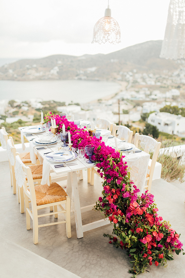 Grecian Folklore Inspired Table by the Sea