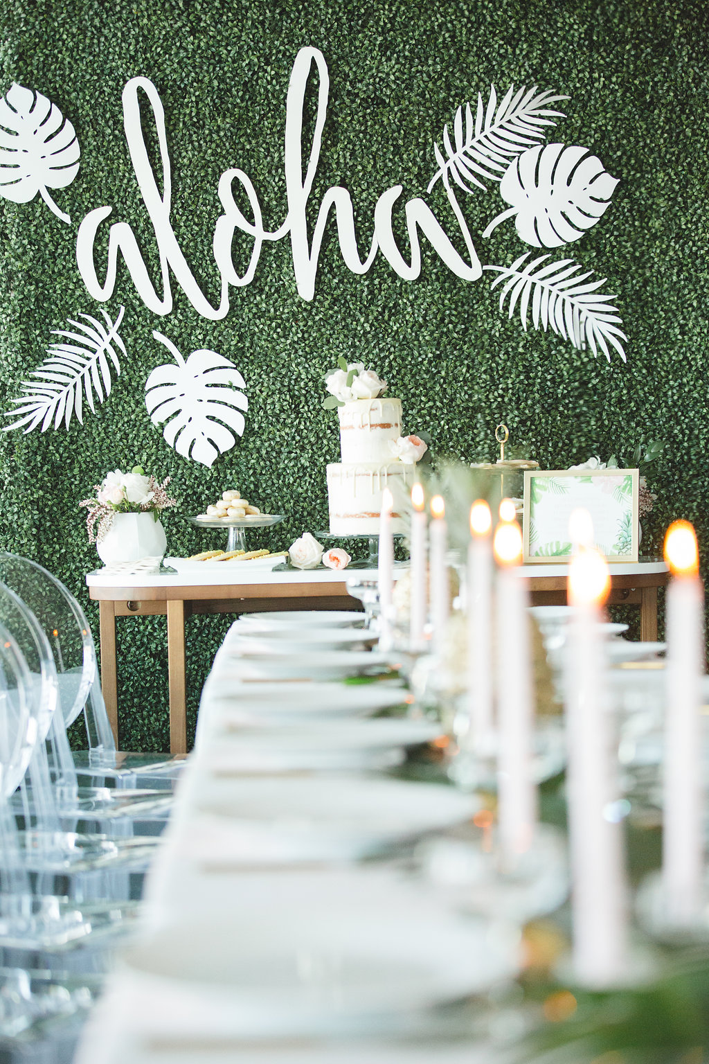 Hawaiian Inspired Bridal Shower - photo by Parrish House Photos http://ruffledblog.com/hawaiian-inspired-bridal-shower
