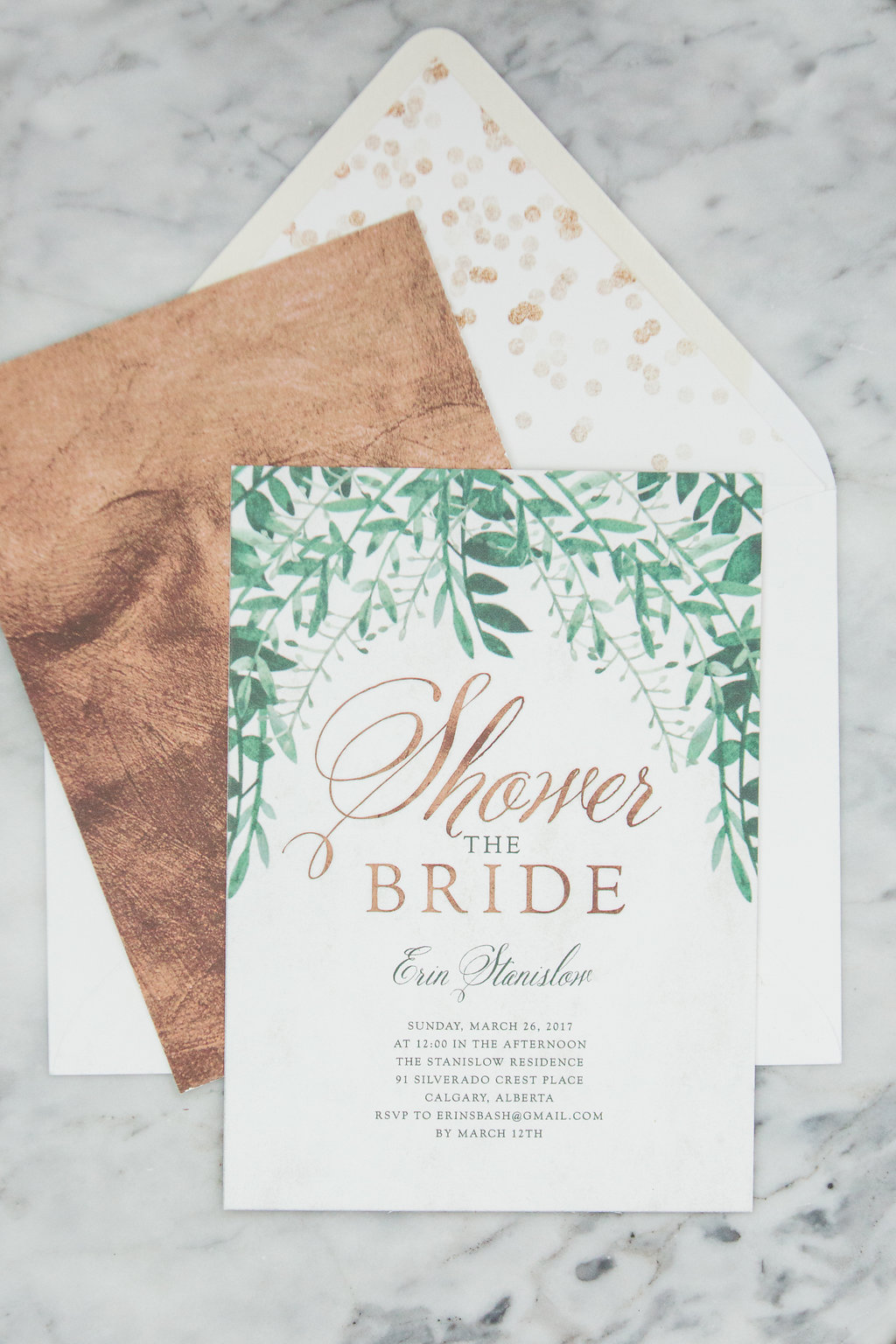 tropical wedding stationery - photo by Parrish House Photos https://ruffledblog.com/hawaiian-inspired-bridal-shower