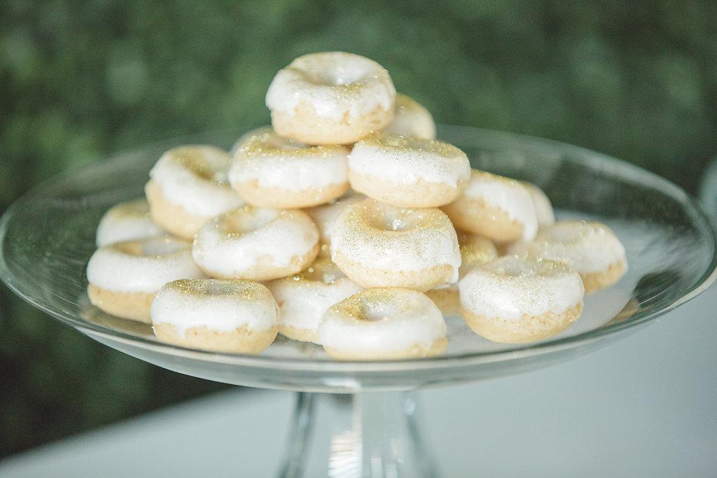wedding donuts - photo by Parrish House Photos http://ruffledblog.com/hawaiian-inspired-bridal-shower