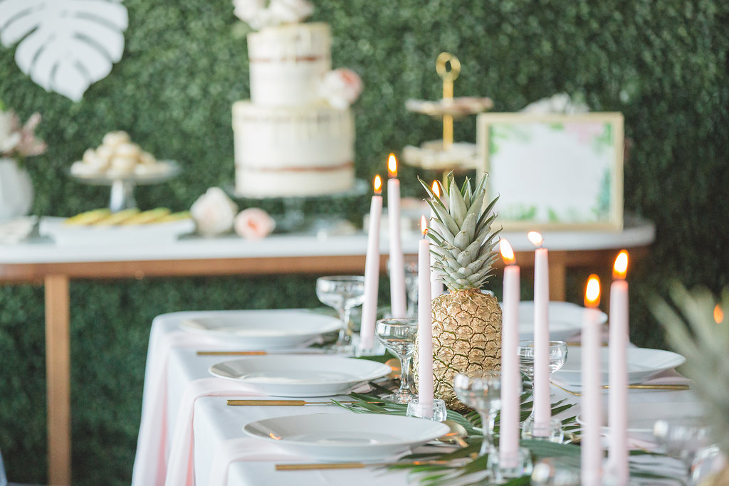 wedding reception ideas - photo by Parrish House Photos http://ruffledblog.com/hawaiian-inspired-bridal-shower