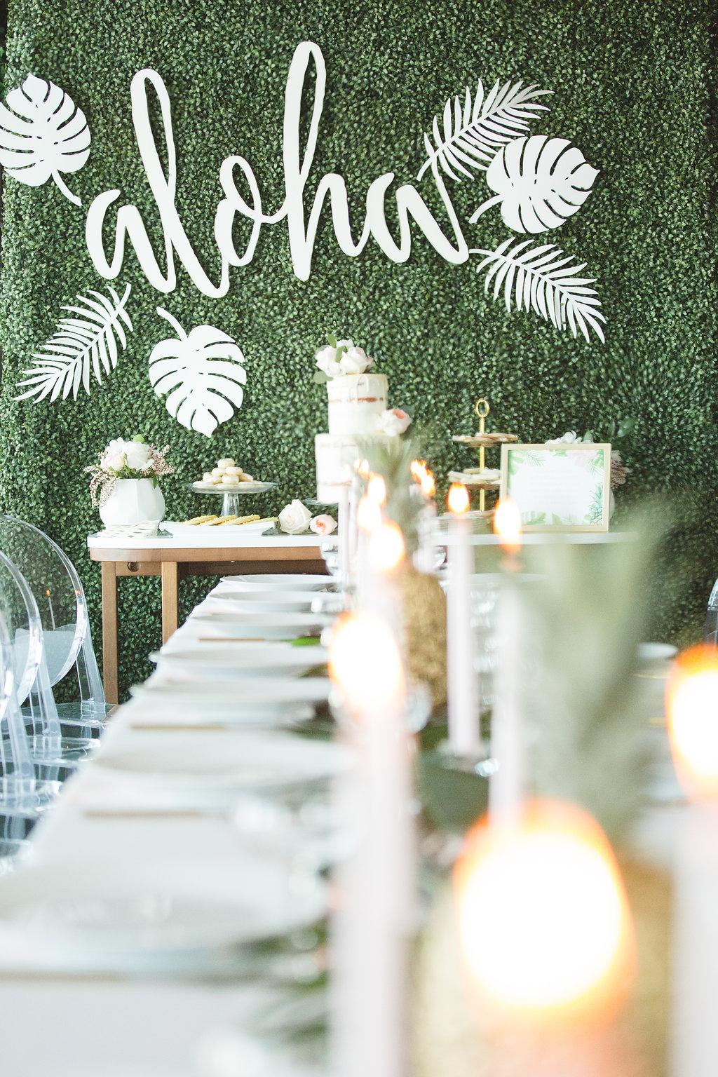 fun bridal showers - photo by Parrish House Photos https://ruffledblog.com/hawaiian-inspired-bridal-shower