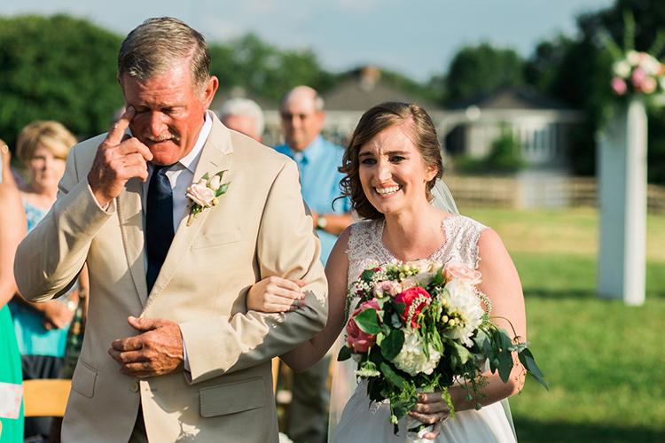 bridal processionals - photo by Amilia Photography https://ruffledblog.com/heart-touching-north-carolina-nursery-wedding