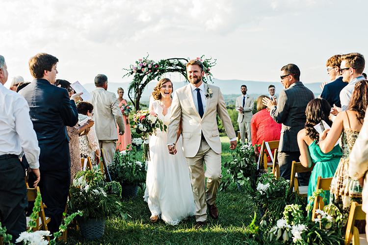 ceremony recessionals - photo by Amilia Photography http://ruffledblog.com/heart-touching-north-carolina-nursery-wedding