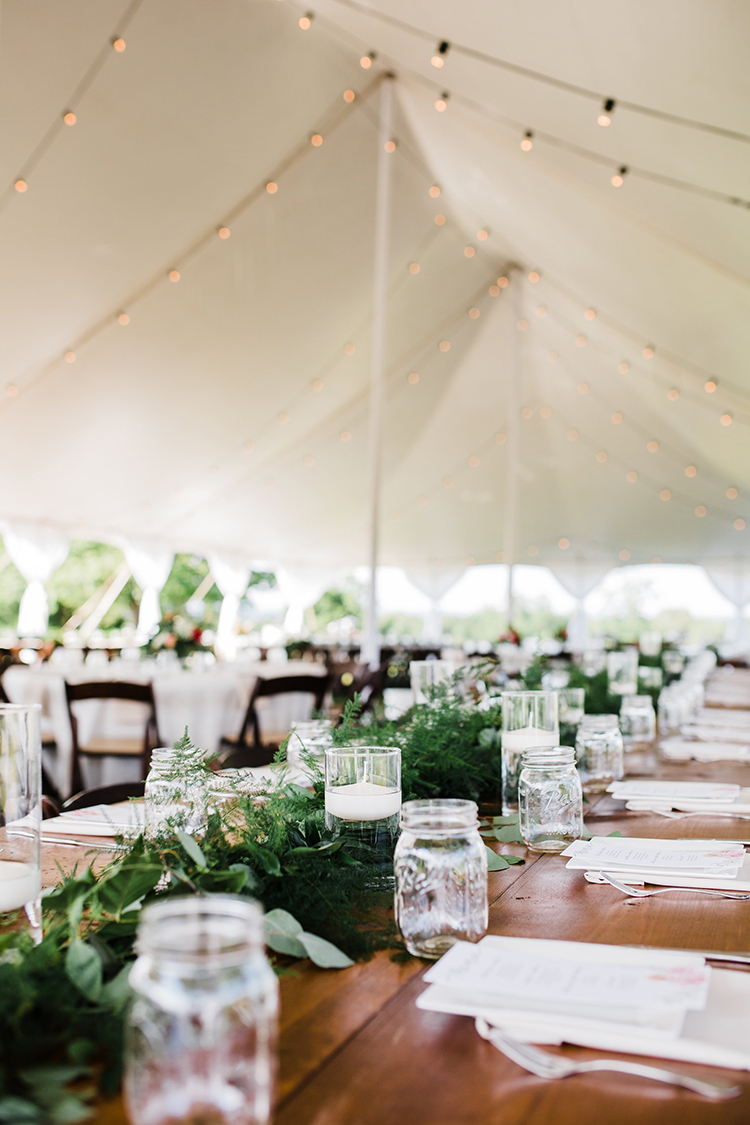 tented wedding receptions - photo by Amilia Photography http://ruffledblog.com/heart-touching-north-carolina-nursery-wedding