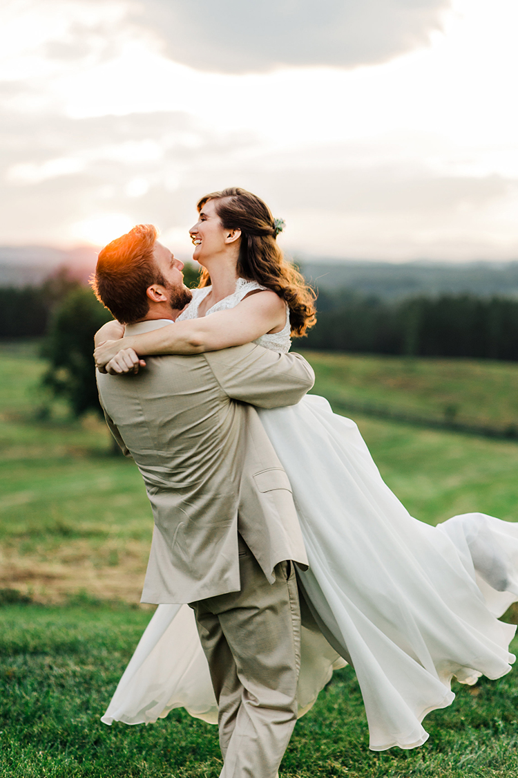 fun wedding photography - photo by Amilia Photography https://ruffledblog.com/heart-touching-north-carolina-nursery-wedding