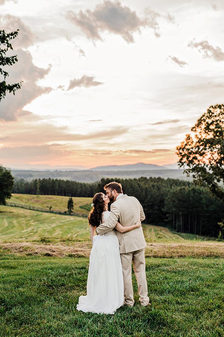 sunset weddings - photo by Amilia Photography https://ruffledblog.com/heart-touching-north-carolina-nursery-wedding