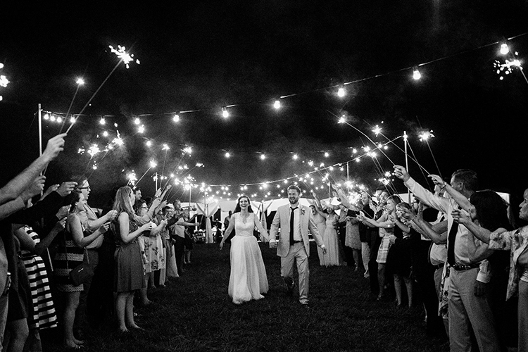 sparkler getaways - photo by Amilia Photography http://ruffledblog.com/heart-touching-north-carolina-nursery-wedding