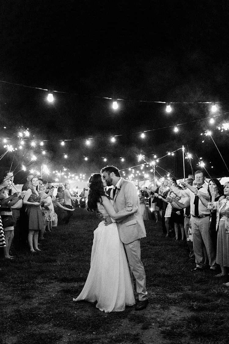 sparkler weddings - photo by Amilia Photography http://ruffledblog.com/heart-touching-north-carolina-nursery-wedding
