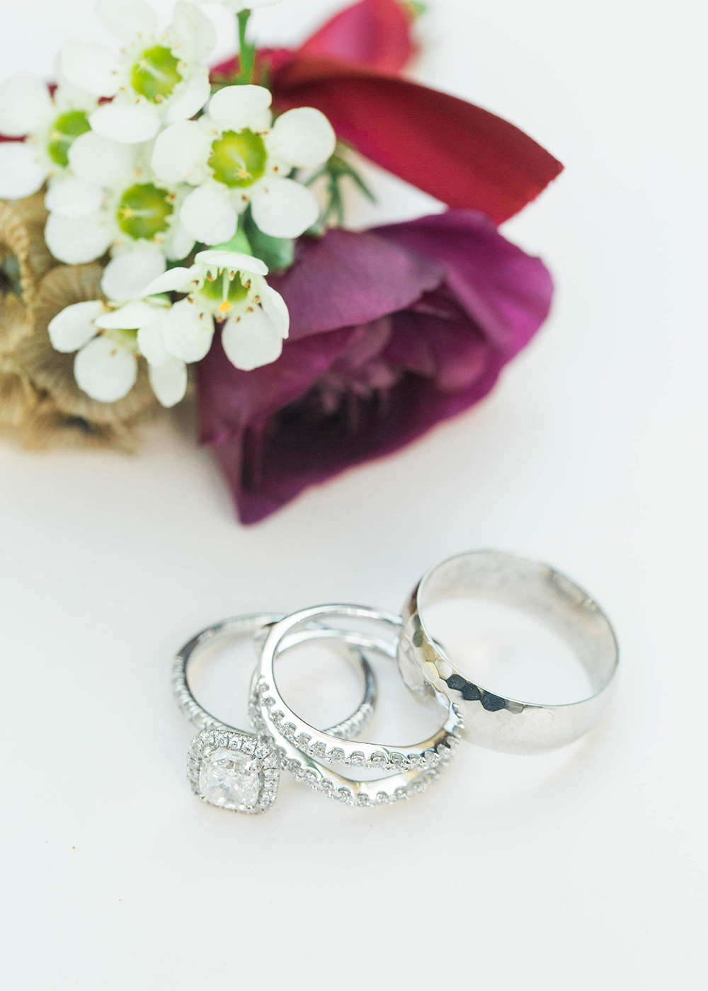 wedding rings - photo by Honey Gem Creative http://ruffledblog.com/hill-country-garden-wedding