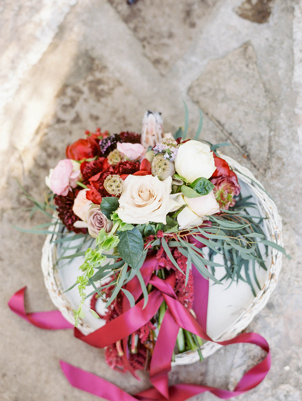 wedding bouquets with ribbon - photo by Honey Gem Creative https://ruffledblog.com/hill-country-garden-wedding