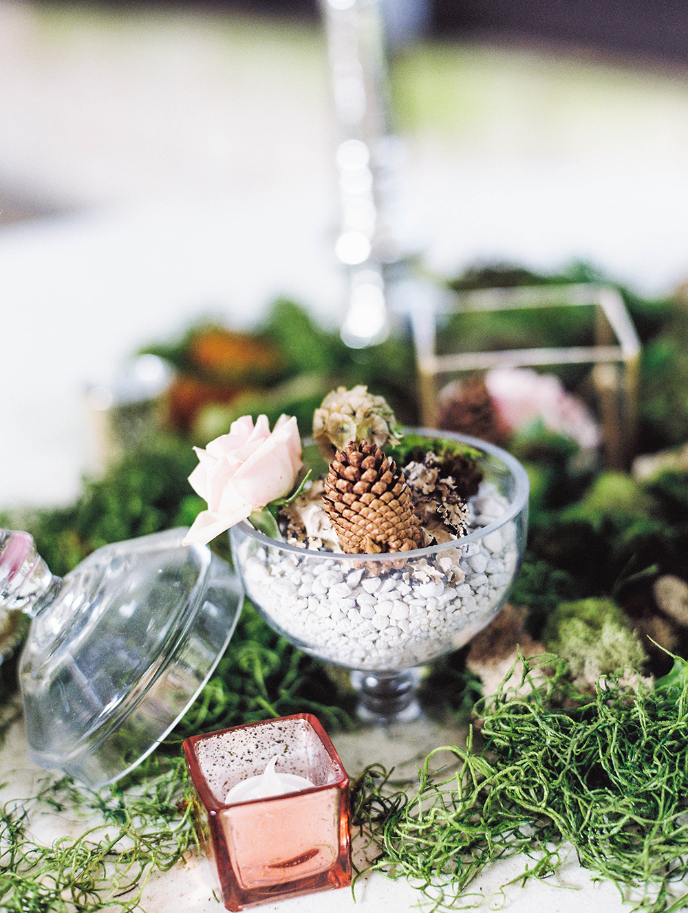 fall wedding centerpieces - photo by Honey Gem Creative http://ruffledblog.com/hill-country-garden-wedding