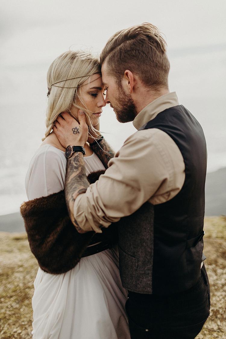 wedding style - photo by Jane Iskra http://ruffledblog.com/idyllic-engagement-inspiration-in-iceland