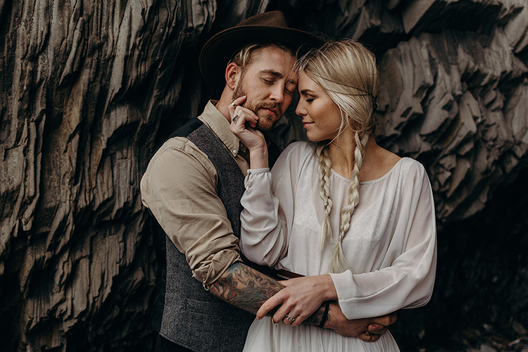 wedding portraits - photo by Jane Iskra http://ruffledblog.com/idyllic-engagement-inspiration-in-iceland