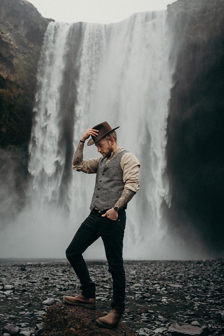 groom style - photo by Jane Iskra http://ruffledblog.com/idyllic-engagement-inspiration-in-iceland