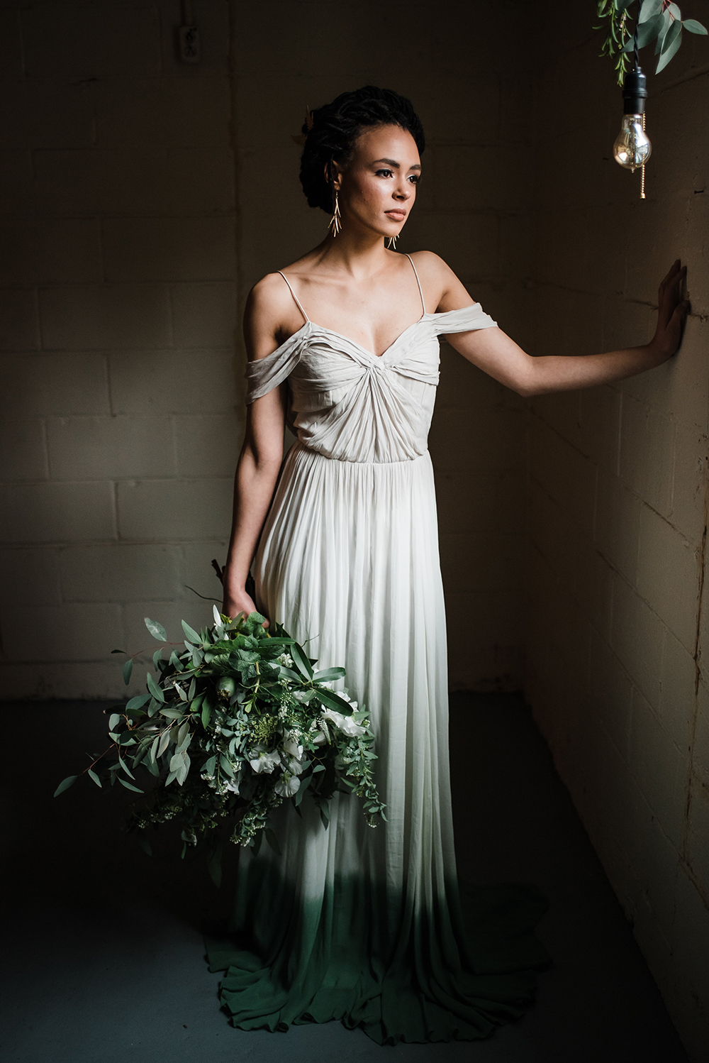 Industrial Candlelit Wedding Inspiration - photo by Dawn Derbyshire Photography https://ruffledblog.com/industrial-candlelit-wedding-inspiration