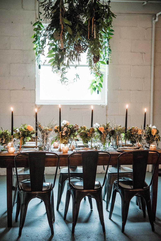 garden inspired weddings - photo by Dawn Derbyshire Photography https://ruffledblog.com/industrial-candlelit-wedding-inspiration