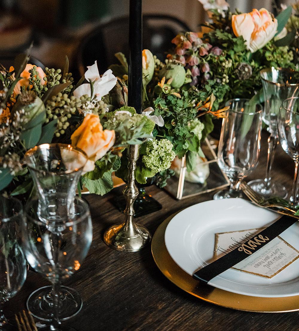wedding ideas - photo by Dawn Derbyshire Photography https://ruffledblog.com/industrial-candlelit-wedding-inspiration