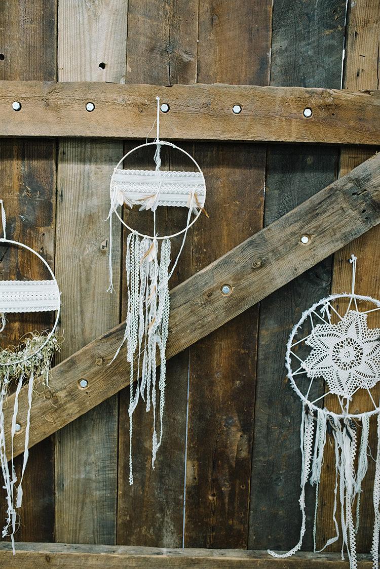 dreamcatcher ideas - photo by The Kama Photography https://ruffledblog.com/industrial-modern-wedding-with-a-greenery-wall