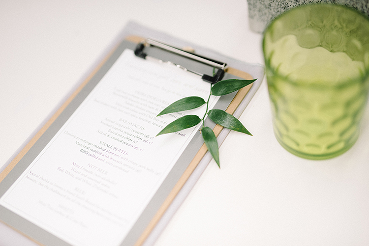 wedding paper goods - photo by The Kama Photography http://ruffledblog.com/industrial-modern-wedding-with-a-greenery-wall