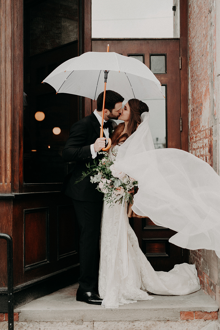 Industrial Space Meets Enchanted Forest Wedding - photo by Scarlet ONeill https://ruffledblog.com/industrial-space-meets-enchanted-forest-wedding