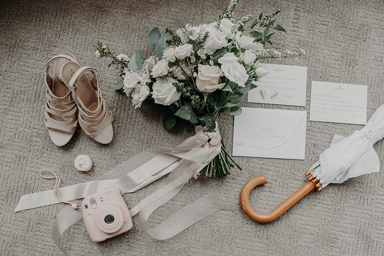 wedding day accessories - photo by Scarlet ONeill https://ruffledblog.com/industrial-space-meets-enchanted-forest-wedding