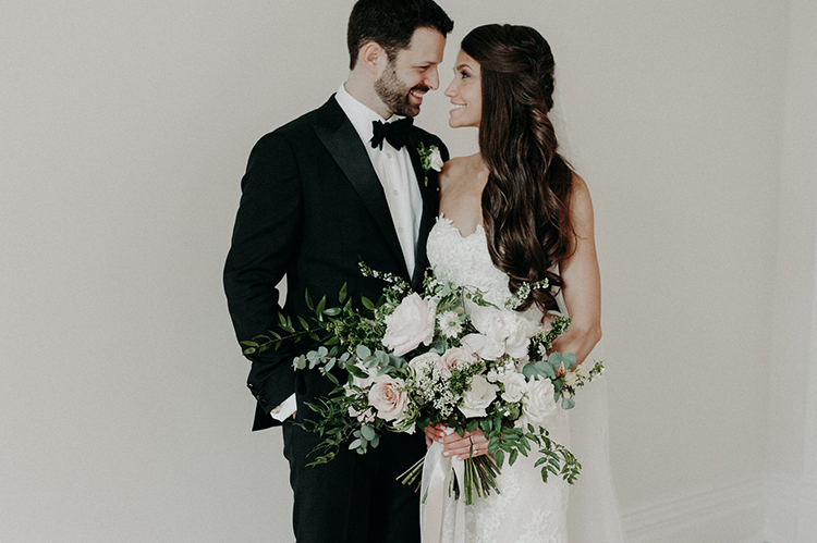 wedding portraits - photo by Scarlet ONeill https://ruffledblog.com/industrial-space-meets-enchanted-forest-wedding
