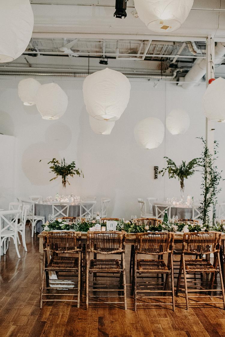modern wedding ideas - photo by Scarlet ONeill http://ruffledblog.com/industrial-space-meets-enchanted-forest-wedding