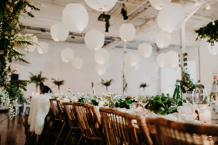 industrial romantic weddings - photo by Scarlet ONeill http://ruffledblog.com/industrial-space-meets-enchanted-forest-wedding