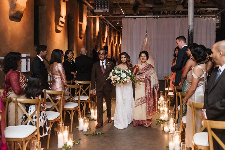 wedding processionals - photo by Mango Studios https://ruffledblog.com/industrial-wedding-in-toronto-with-an-enchanted-forest-reception