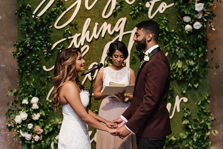 wedding ceremonies - photo by Mango Studios https://ruffledblog.com/industrial-wedding-in-toronto-with-an-enchanted-forest-reception